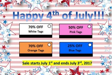 4th of July Used Clothing Promotion