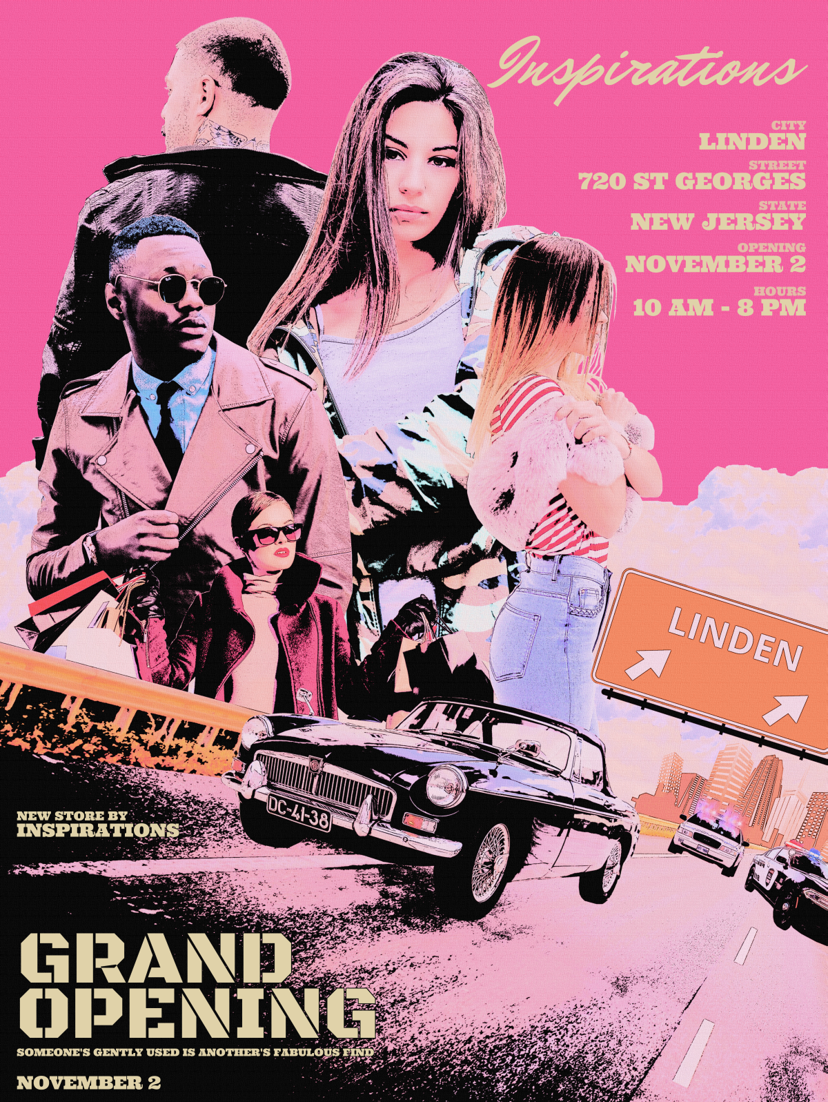 Linden Store Grand Opening Poster