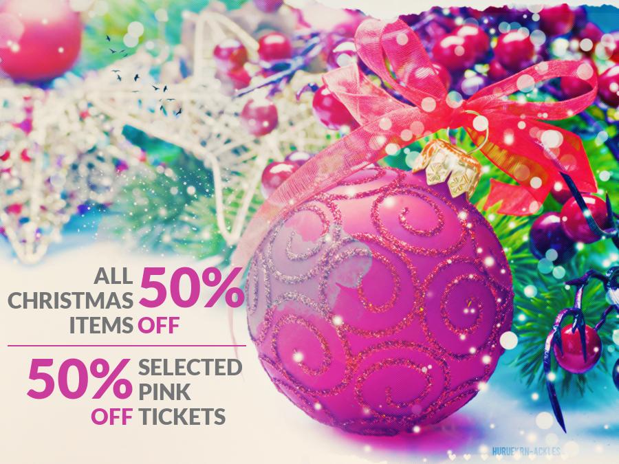 Christmas items 50% OFF