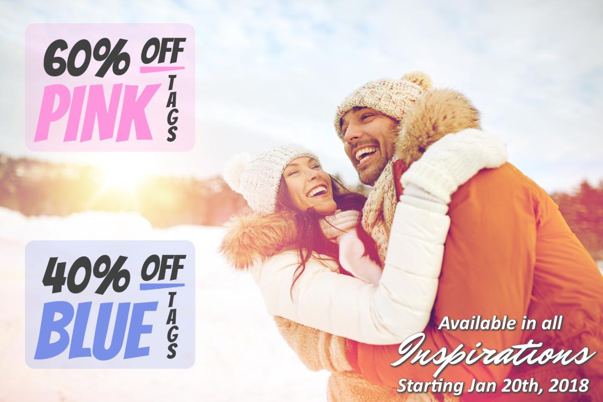 PINK TAGS 60% OFF and BLUE TAGS 40% OFF !!